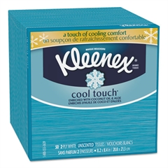 Cool Touch Facial Tissue, 2-Ply, 50 Sheets per Box, 27/Carton