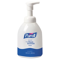 PURELL Advanced Non-Aerosol Foaming Hand Sanitizer, w/Moisturizers, 18oz Pump Bottle