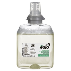 GOJO TFX Green Certified Foam Hand Cleaner Refill, Unscented, 1200mL, 2/Carton