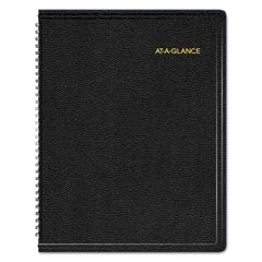 Triple View Weekly/Monthly Appointment Book, 8 1/4 x 10 7/8, Black, 2017