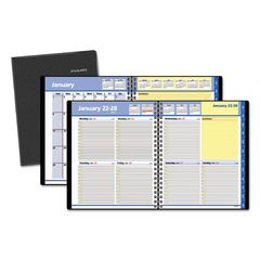 QuickNotes Weekly/Monthly Appointment Book, 8 x 9 7/8, Black, 2017