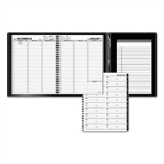 AT-A-GLANCE Plus Weekly Appointment Book, 8 1/4 x 10 7/8, Black, 2017-2018