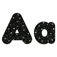 "TREND Ready Letters Casual Combo Pack, Black Sparkle, 4"", 181 per Pack"