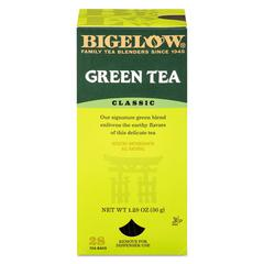 Bigelow Single Flavor Tea, Green, 28 Bags/Box