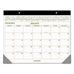 AT-A-GLANCE Two-Color Desk Pad, 22 x 17, 2017