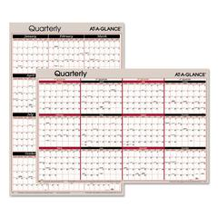 Vertical/Horizontal Erasable Quarterly Wall Planner, 24 x 36, 2017