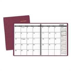 AT-A-GLANCE Monthly Planner, 8 7/8 x 11, Winestone, 2017-2018