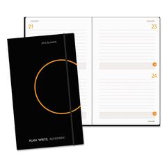 Plan. Write. Remember. Planning Notebook Two Days Per Page, 5 1/8 x 8 1/4, Black