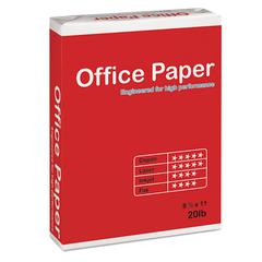 Multipurpose Copy Paper, 96 Bright, 20 lb, 8 1/2 x 11, White, 5000 Sheets/Carton