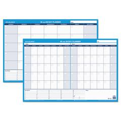 AT-A-GLANCE 30/60-Day Undated Horizontal Erasable Wall Planner, 36 x 24, White/Blue,