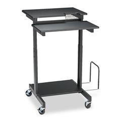 Web A/V Stand-Up Workstation, 34w x 31d x 44-1/2h, Black