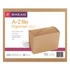 A-Z Indexed Expanding Files, 21 Pockets, Kraft, Letter, Brown
