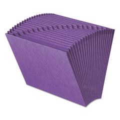 Smead Heavy-Duty A-Z Open Top Expanding Files, 21 Pockets, Letter, Purple