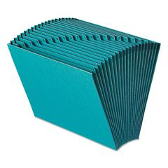 Heavy-Duty A-Z Open Top Expanding Files, 21 Pockets, Letter, Teal