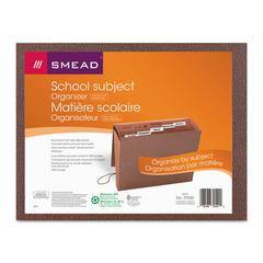 Smead Expanding File, 6 Pockets, 1/5 Tab, Redrope Printed, Letter, Redrope Printed
