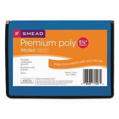 "Poly Premium Wallets, 5 1/4"" Exp, Letter, Navy Blue"