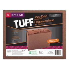 Smead Jan-Dec Expanding File, 12 Pocket, Letter, Redrope Printed