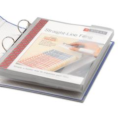 Poly Ring Binder Pockets, 9 x 11-1/2, Clear, 3/Pack
