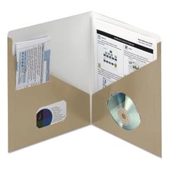 Smead Contemporary Classics Two-Pocket Folder, 11 x 8 1/2, Latte, 25/Box