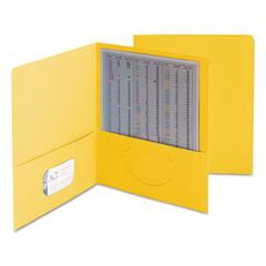 Smead Two-Pocket Folder, Textured Paper, Yellow, 25/Box