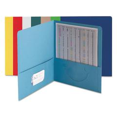 Smead Two-Pocket Folder, Textured Paper, Assorted, 25/Box