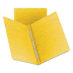Side Opening PressGuard Report Cover, Prong Fastener, Letter, Yellow