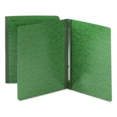 Side Opening Pressboard Report Cover, Prong Fastener, Letter, Green