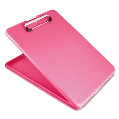 "Saunders SlimMate Portable Desktop, 1/2"" Clip Cap, 8 1/2 x 11 Sheets, Pink"