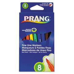 Markers, Fine Point, 8 Assorted Colors, 8/Set