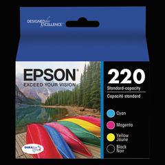 Epson T220120BCS (220) DURABrite Ultra Ink, Black/Cyan/Magenta/Yellow