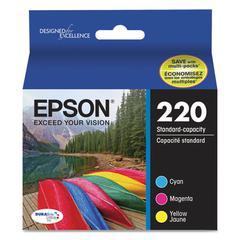 Epson T220520 (220) DURABrite Ultra Ink, Cyan/Magenta/Yellow