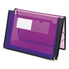 "Smead 2 1/4"" Exp Wallet, Poly, Letter, Translucent Purple"