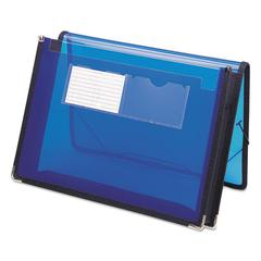 "2"" Exp Ultracolor Wallet, Poly, Letter, Translucent Blue"