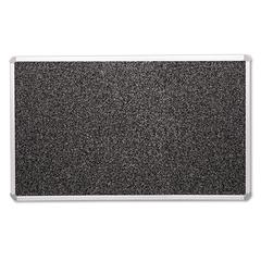 BESTRITE Recycled Rubber-Tak Tackboard, 72 x 48, Black w/Aluminum Frame