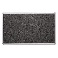 BESTRITE Recycled Rubber-Tak Tackboard, 96 x 48, Black w/Aluminum Frame
