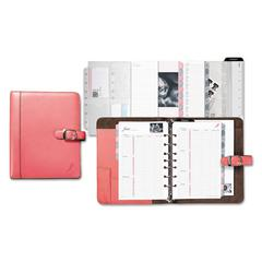Day-Timer Pink Ribbon Loose-Leaf Organizer Starter Set, 5 1/2 x 8 1/2, Pink/White