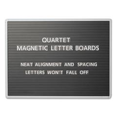 Magnetic Wall Mount Letter Board, 36 x 24, Black, Gray Aluminum Frame