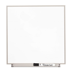 Matrix Magnetic Boards, Painted Steel, 16 x 16, White, Aluminum Frame