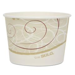 "SOLO Cup Company Single Poly Paper Container, 12 oz, Symphony, 4.2"" dia, 60/Pack, 20 Pack/Carton"