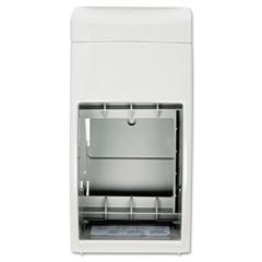 Bobrick Matrix Series Two-Roll Tissue Dispenser, 6 1/4w x 6 7/8d x 13 1/2h, Gray
