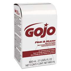 GOJO Pink & Klean Skin Cleanser 800mL Dispenser Refill, Floral, 12/Carton