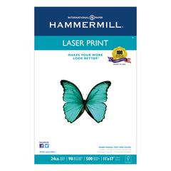 Hammermill Laser Print Office Paper, 98 Brightness, 24lb, 11 x 17, White, 500 Sheets/Ream