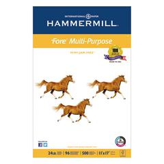 Hammermill Fore MP Multipurpose Paper, 96 Bright, 24lb, 11 x 17, White, 500 Sheets