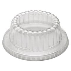 SOLO Cup Company Flat-Top Dome PET Plastic Lids f/12 oz Containers, Clear, 1000/Carton