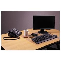 "Desktex Polycarbonate Anti-Slip Desk Mat, 24"" x 19"", Clear"