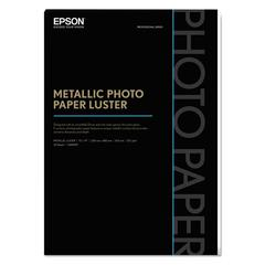 Professional Media Metallic Photo Paper Luster, White, 13 x 19, 25 Sheets/Pack