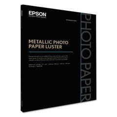 Epson Professional Media Metallic Photo Paper Luster, White, 17 x 22, 25 Sheets/Pack