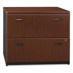 Bush Series A Collection 36W Two-Drawer Lateral File (Assembled), Hansen Cherry