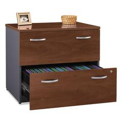 Bush Series C Collection 36W Two-Drawer Lateral File (Assembled), Hansen Cherry