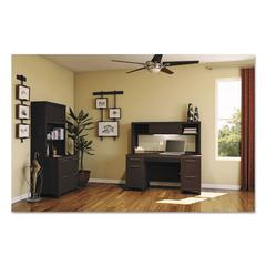 Bush Enterprise Collection 60W Low Hutch, Mocha Cherry